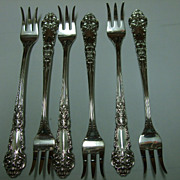 "SALE Set Of Six ""French Renaissance"" Cocktail Forks"