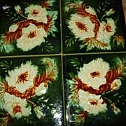 """SALE Set Of 4 English 6x6""""  Tiles"""