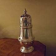 "SALE English Ellis Barker 6 1/4"" Silver Muffineer/Shaker (2 Available)"