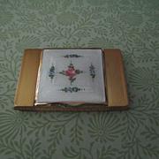 SALE LaMode Guilloche Enamel Compact C:1930