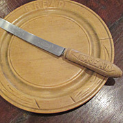 English Bread Board And Knife