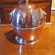 SALE English Copper/Brass Biscuit Barrel