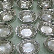 Set Of 12 Sterling Webster Nut Dishes