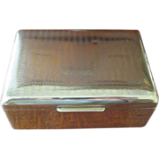 Vintage Brass State Express Cigarette Box