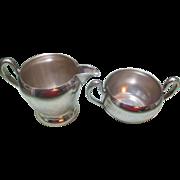 Vintage Academy Silver Plated Cream & Sugar