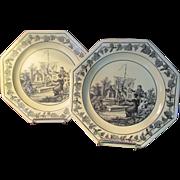SALE Pr. Mottahedeh Creil Plates