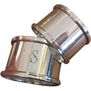 Pr. English Silver Plated Napkin Rings