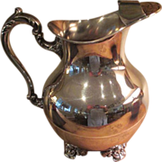 Silver On Copper Poole Pitcher