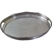 Silver On Copper Gallery Tray