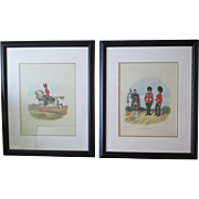 SALE Pr. Framed Lithographs By English Military Artist, Richard Simkin