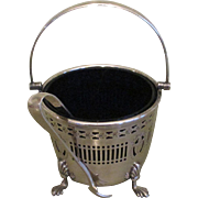 Mappin & Webb Footed Basket With Stieff Sterling Tongs