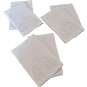 Pair of Imperial Crown Linen Fingertip Towels (3 Pairs Available)