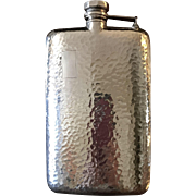 Hammered Silver Plated Flask