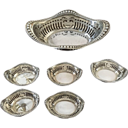 Seven Piece Gorham Sterling Nut Dishes