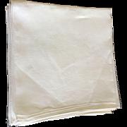 SALE Set Of 12 Cream Linen Napkins