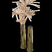 Pr. Trench Art Brass Vases