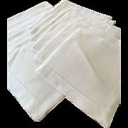 SALE Set of 12 Linen Hemstitched Napkins