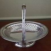 SALE English  Oval Cake/Bride's Basket C:1890