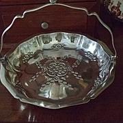 SALE Silver Plated Cake/Bride's Basket By John Turton & Co