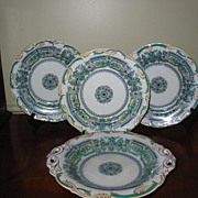 SALE Three Minton Plates And Compote Dated 1842