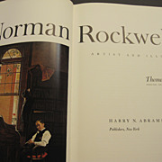 "1970 ""Norman Rockwell, Artist and Illustrator"" book by Thomas S. Buechner"