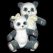 "SALE Cybis Porcelain Figurine ""Panda Bears"""