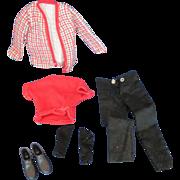 Ken Suit with Sweater Jacket Shoes Socks Mattell Barbie