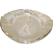 "Lalique Crystal ""Nancy Cendrier"" Signed Glass Bowl Ash Tray"