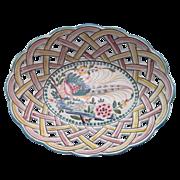 Portugal Porcelain Majolica Lattice Basket