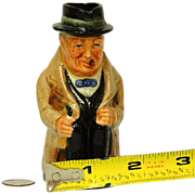 "Royal Doulton Winston Churchill 4"" Toby Character Figurine Mug"