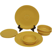 Vintage Homer Laughlin Fiestaware Pre-1986 Fiesta Ware Set Yellow