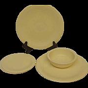 Homer Laughlin Vintage Fiestaware Pre-1986 Fiesta Ware Set Ivory