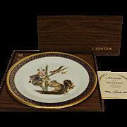 Vintage Woodland Wildlife Squirrels Collector Plate by Lenox