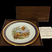 Vintage Woodland Wildlife Eastern Chipmunks Collector's Plate by Lenox