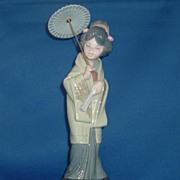 Lladro Porcelain Japanese Geisha Figurine Oriental Spring