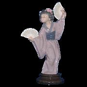 Lladro Porcelain Japanese Geisha Figurine - Madame Butterfly