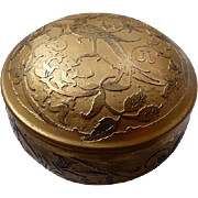Art Deco DeVilbiss Gold Powder Puff Box