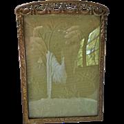 Antique Edwardian Victorian Gilt Bronze Picture Frame