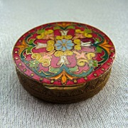 SOLD French Champleve Enamel Compact
