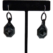 Antique Victorian Whitby Jet Earrings