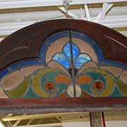 Three Jeweled Stained Glass Window