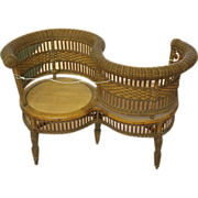 Rare Old Photographer's Wicker Chair