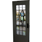 SOLD Rare Stained Glass Door - Children