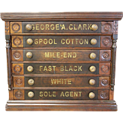 SOLD Clark's Mile-End Six Drawer Spool Cabinet