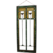 SOLD Arts and Crafts Stained Glass Window