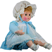"SOLD 1973 Madame Alexander 20"" Baby Sister with Working Crier and Tags EUC"