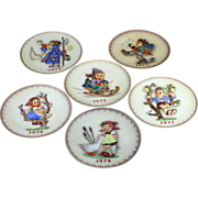 SOLD Hummel Annual Plate Series Set (6) 1972-77