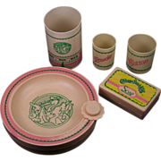 SALE Cabbage Patch Kids 6-piece Feeding & Toiletry Lot 1983 and 1984
