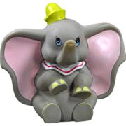 "SALE Walt Disney Productions Vinyl 8"" Dumbo with Working Squeaker"