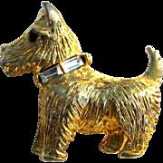 Vintage Scotty dog pin brooch